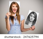 portrait of a woman changing... | Shutterstock . vector #247625794