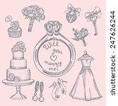 hand drawn doodle tender... | Shutterstock .eps vector #247626244