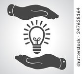 two hands protecting black idea ... | Shutterstock .eps vector #247628164