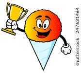 snow cone with trophy | Shutterstock .eps vector #247631464