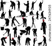 construction workers... | Shutterstock .eps vector #247634935