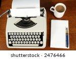 a writer's desk. | Shutterstock . vector #2476466