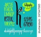 alphabet letters  uppercase ... | Shutterstock .eps vector #247647085