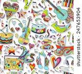vector seamless 3d pattern ... | Shutterstock .eps vector #247653904