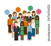 social network design  vector... | Shutterstock .eps vector #247655425