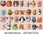 Cute Animals Cartoon...
