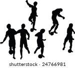 soccer silhouette   vector | Shutterstock .eps vector #24766981