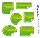 green labels isolated | Shutterstock . vector #24767680