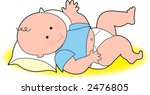 baby boy on blanket | Shutterstock .eps vector #2476805