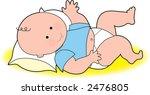 baby boy on blanket | Shutterstock .eps vector #2476805