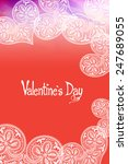 valentine's day card with white ... | Shutterstock .eps vector #247689055