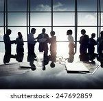 business people discussion... | Shutterstock . vector #247692859