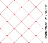 hearts seamless pattern on... | Shutterstock .eps vector #247700749