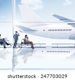 airport travel business people... | Shutterstock . vector #247703029