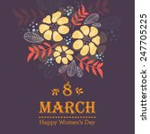 vector happy women's day... | Shutterstock .eps vector #247705225