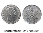 Two Sides Of Old Silver Coin O...