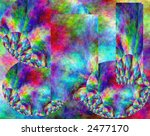 Abstract rainbow fractal design pattern background - stock photo