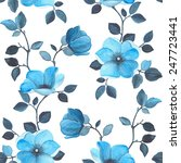 watercolor seamless floral... | Shutterstock .eps vector #247723441