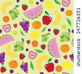juicy fruit pattern | Shutterstock . vector #247726351
