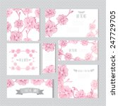 elegant cards with decorative... | Shutterstock . vector #247729705