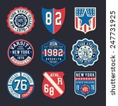 athletic shield typography  t... | Shutterstock .eps vector #247731925