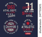 athletic sport labels... | Shutterstock .eps vector #247732651