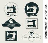 vintage logo vector... | Shutterstock .eps vector #247734655