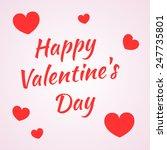 inscription happy valentine's... | Shutterstock .eps vector #247735801