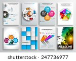 set of flyer design  web... | Shutterstock . vector #247736977