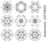 a round ornament set. vector... | Shutterstock .eps vector #247738351