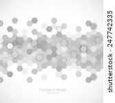 Abstract background with hexagons pattern design template | Shutterstock vector #247742335