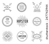 set of vintage hipster badge... | Shutterstock .eps vector #247742944