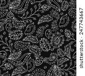 fantasy flowers seamless... | Shutterstock .eps vector #247743667