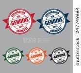 vector   genuine satisfaction... | Shutterstock .eps vector #247749664