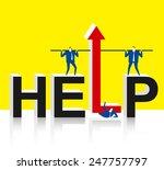 the help of teamwork | Shutterstock .eps vector #247757797