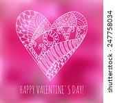 happy valentine's day. vector... | Shutterstock .eps vector #247758034