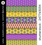 Mardi Gras Geometric Seamless...