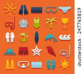 set of summer tourism icons | Shutterstock . vector #247765819