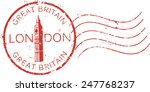 postal grunge stamp 'london  ... | Shutterstock .eps vector #247768237
