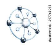 blue glass molecule on white | Shutterstock . vector #247769095