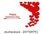 red hearts for valentine's day... | Shutterstock . vector #247769791
