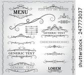 calligraphic design elements... | Shutterstock .eps vector #247773037
