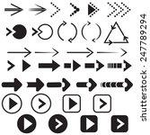 black arrow set | Shutterstock .eps vector #247789294