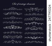 set  calligraphic vintage...   Shutterstock .eps vector #247795324
