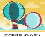 businessman has a great view in ... | Shutterstock .eps vector #247803541