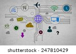 group of colorful application... | Shutterstock . vector #247810429