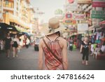 rear view of a young woman... | Shutterstock . vector #247816624