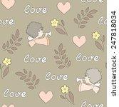 vector illustration  seamless... | Shutterstock .eps vector #247818034