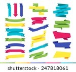 big set of colorful flat... | Shutterstock .eps vector #247818061