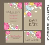 save the date invitation. vector | Shutterstock .eps vector #247818961
